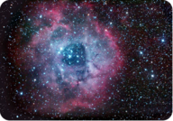Stars form inside the Rosette Nebula