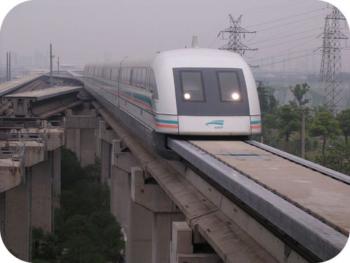 Maglev trains are held up using magnetic fields