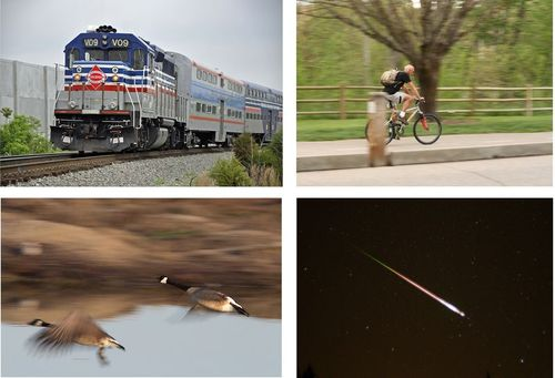 Examples of moving objects