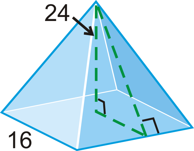 Pyramids read geometry ck 12 foundation example 1 find the slant height of the square pyramid ccuart Choice Image
