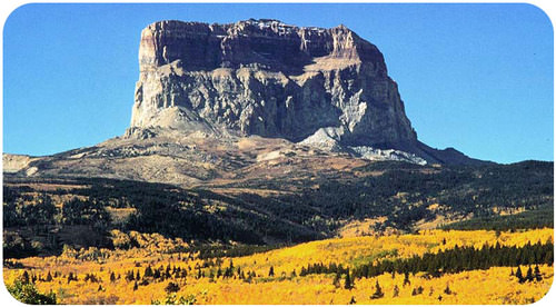 Chief Mountain in Montana formed due to a thrust fault