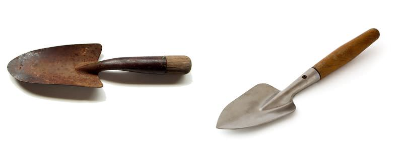 Chemical Properties Of Matter Look At The Two Garden Trowels Pictured Here Both Trowels Were Left Outside For Several Weeks One Tool Became Rusty