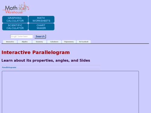 Interactive Parallelogram