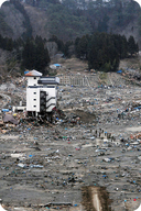 The damage caused in Japan from an earthquake and tsunami