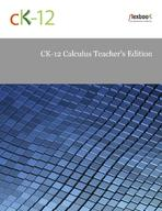 CK-12 Calculus Teacher's Edition