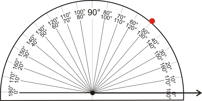 how to draw a pentagon using a protractor