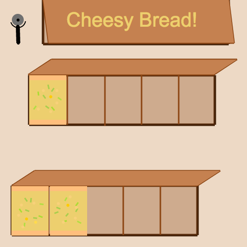 Sums of Fractions with Like Denominators: Cheesy Bread