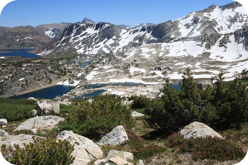 The Sierra Nevada Mountains are made of intrusive igneous rock