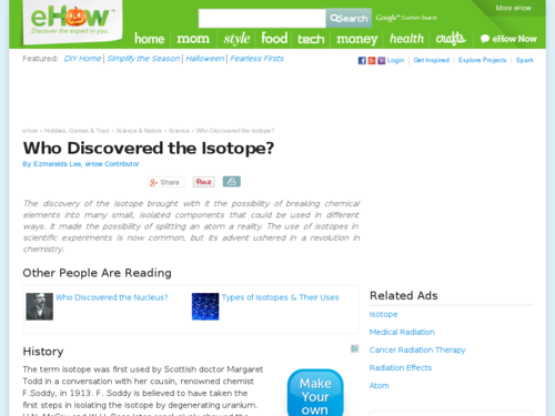 Who Discovered the Isotope?