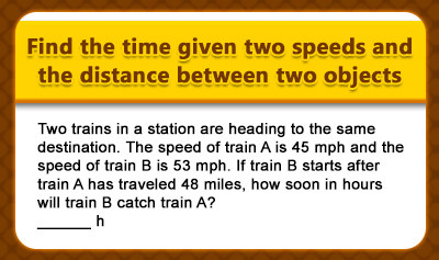 Time = Distance / Speed - Example 2