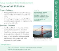 Types of Air Pollution Study Guide
