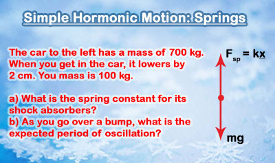 Simple Harmonic Motion: An Example Problem with Springs