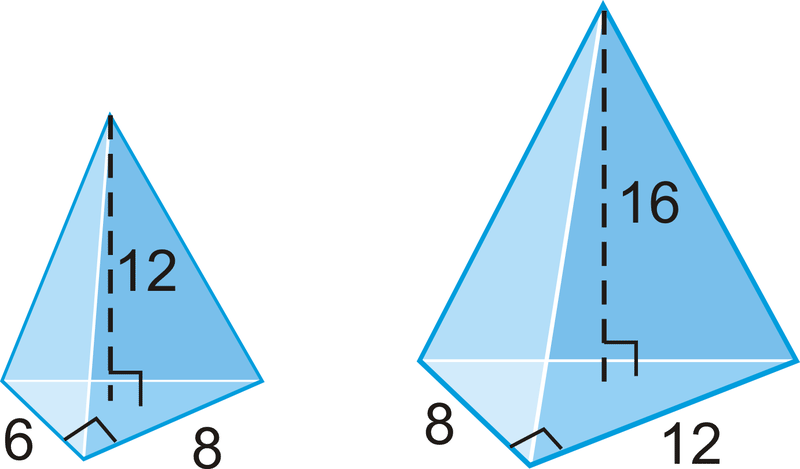 Area and volume of similar solids read geometry ck 12 example 1 determine if the two triangular pyramids ccuart Choice Image