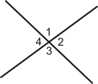 Identify Adjacent and Vertical Angles