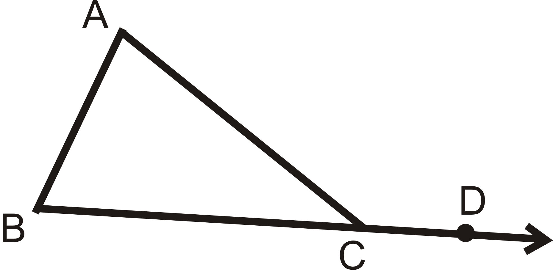 Triangle sums ck 12 foundation - The exterior angle of a triangle is equal to ...