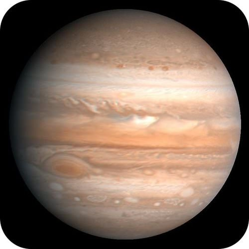 An image of Jupiter taken by Voyager 2