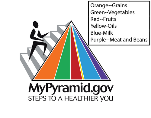 MyPyramid can be used to help choose healthy foods