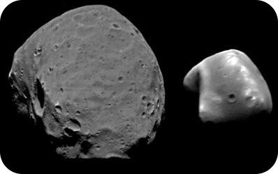 Phobos and Deimos, both of Mars' moons