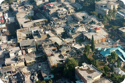 Damage from the 2005 Kashmir earthquake