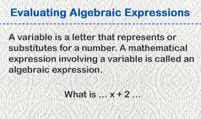 Evaluating Algebraic Expressions - Overview