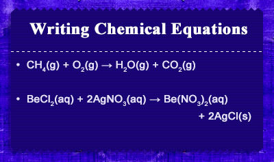 Writing Chemical Equations