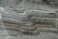 Ancient varve sediments in a rock outcrop