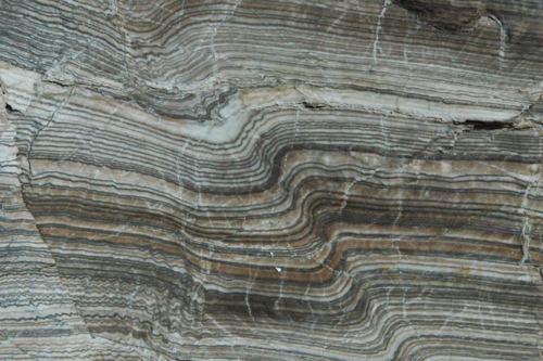 Ancient varve sediments in a rock outcrop
