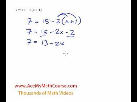 Multi-Steps Equation (Distributive Property) - Question #4
