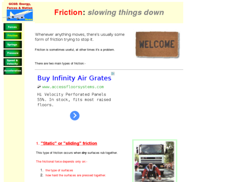 Friction: Slowing Things Down