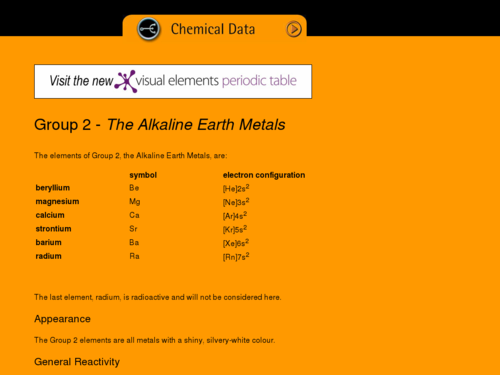 Alkaline Earth Metals Overview
