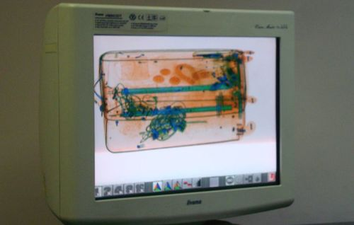X ray luggage scanner images