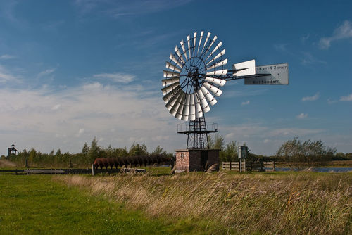 An old windmill in the Netherlands