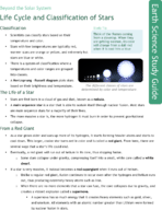 Life Cycle and Classification of Stars Study Guide