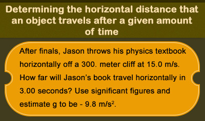 Horizontal Projectile Motion - Example 2
