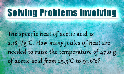 Specific Heat and Heat Capacity - Example 1
