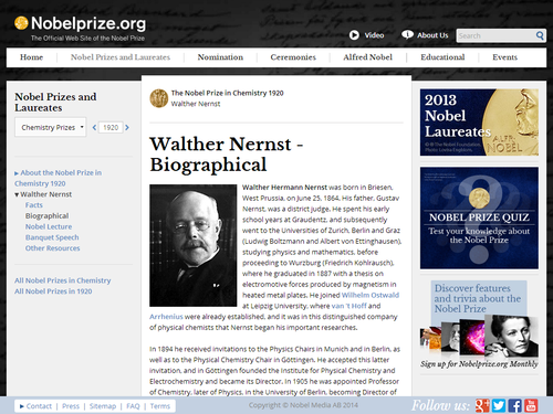 Walther Nernst's Electrochemical Theories