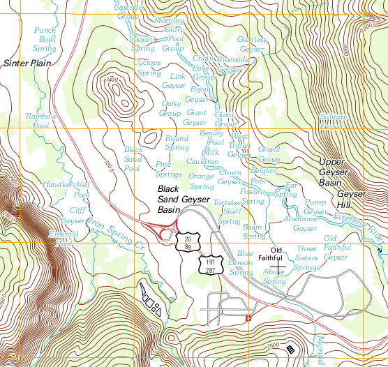 Topographic Map Of Yellowstone.Maps Read Earth Science Ck 12 Foundation