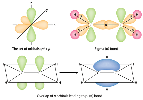 Image of sigma and pi bonds