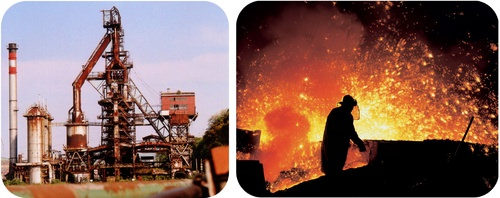 Blast furnaces reduce Iron 3+ into iron metal using carbon monoxide