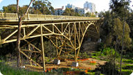 Bridge retrofitted to meet earthquake safety standards