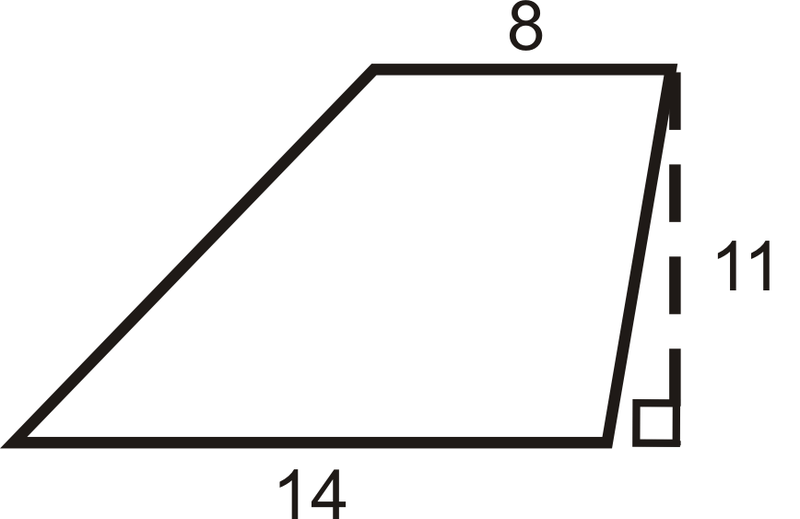 Area and perimeter of trapezoids read geometry ck 12 calculating the area 1 find the area of the trapezoid below ccuart Choice Image