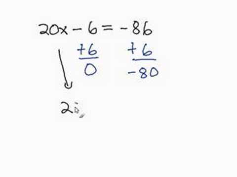 Solving Two Steps Equation