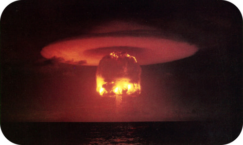 Nuclear detonation from Operation Castle