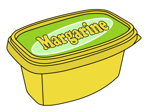 Margarine is created by the reduction of vegetable oils