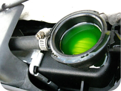 Antifreeze lowers the freezing temperature of the water in car radiators