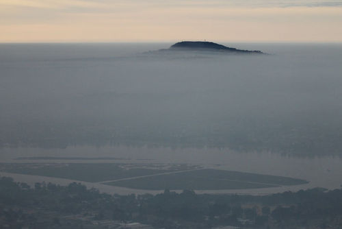 Picture of a temperature inversion
