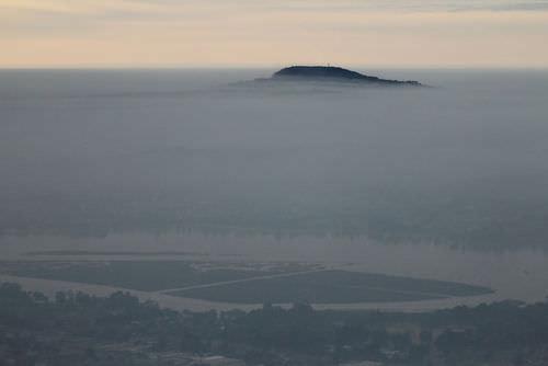 Picture of a temperature inversion