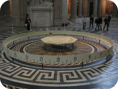 Picture of Foucault's Pendulum in the Pantheon in Paris, France