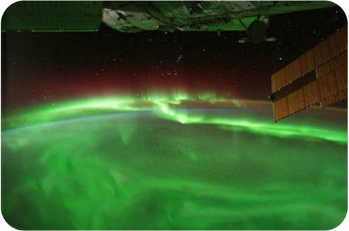 Picture of the aurora borealis from space