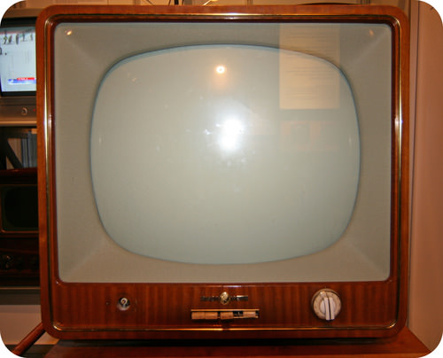 Old cathode ray tube television